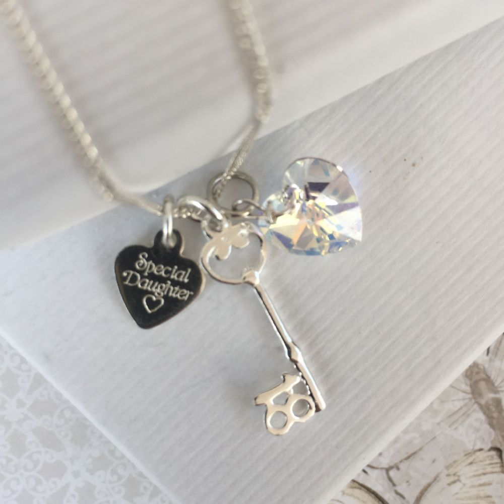 18th birthday silver necklace gift
